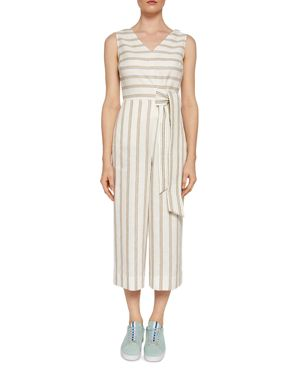 COLOUR BY NUMBERS ZELMA STRIPED JUMPSUIT