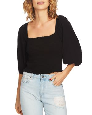 Image of 1.state Blouson Sleeve Cropped Top