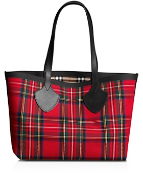"Burberry - ""The Giant"" Medium Vintage Check Reversible Tote"