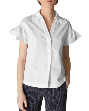 FRILL POPLIN SHIRT from Bloomingdale's