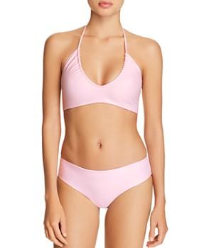 MIKOH - Kaiko Ruched Halter Bikini Top & Cruz Bay Bikini Bottom