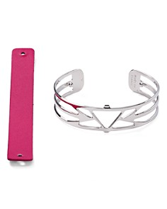 Les Georgettes - Ibiza Reversible Two-Tone Open Cuff Bracelet