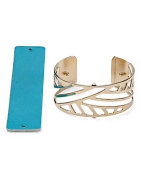 Les Georgettes - Ruban Reversible Medium Two-Tone Open Cuff Bracelet