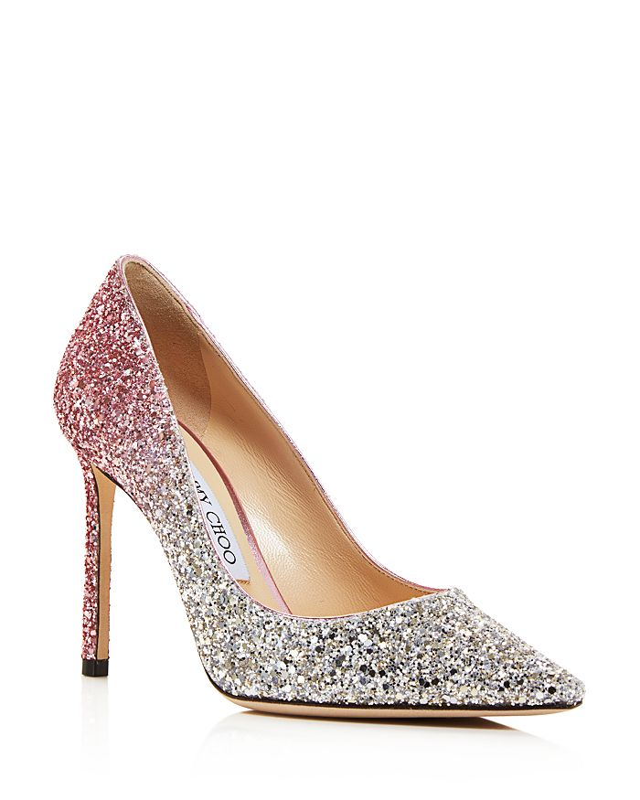 2ac513810315 Jimmy Choo Women s Romy 100 Ombré Glitter Pointed Toe Pumps ...
