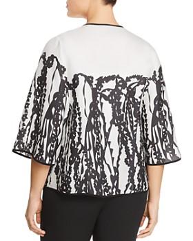 Marina Rinaldi - Fashion Abstract Botanical Print Jacket