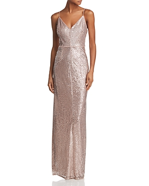 Adrianna Papell Sequined Column Gown