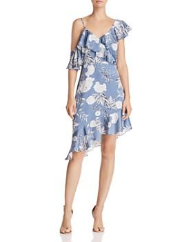 Lucy Paris - Emely Asymmetric Floral Print Dress - 100% Exclusive