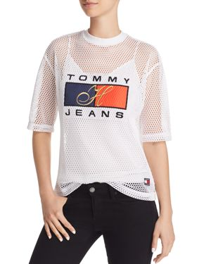 Tommy Jeans '90s Logo Mesh Tee 2972037