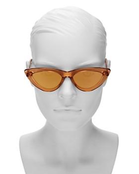 Chimi - Women's Peach #006 Mirrored Cat Eye Sunglasses, 51mm
