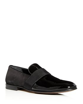 Salvatore Ferragamo - Men's Bryden Suede & Patent Leather Smoking Slippers