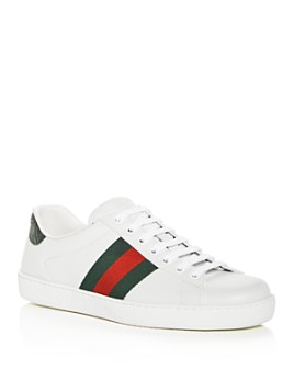 Gucci - Men's Ace Leather Lace Up Sneakers