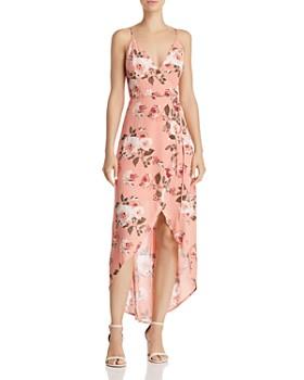 Cotton Candy LA - Floral High/Low Wrap Dress