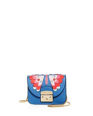 Furla Metropolis Mini Papillon Leather Crossbody