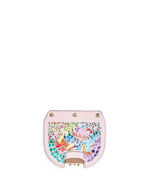 Furla My Play Interchangeable Metropolis Mini Laser-Cut Butterfly Floral Print Leather Flap