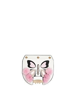 Furla My Play Interchangeable Metropolis Mink Butterfly Leather Flap