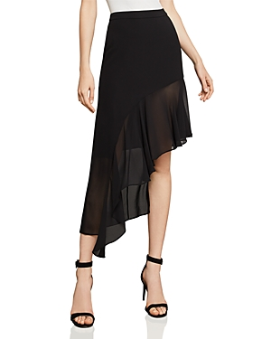 Bcbgmaxazria Asymmetric Ruffled Skirt