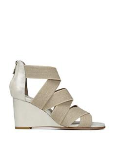 Donald Pliner - Women's Lelle-Le Elasticized Cross-Strap Wedge Sandals
