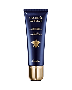 What It Is: Enriched with the exceptional moisturizing power of the Orchid Essential Water complex, with the regenerative power of Cell Respiration technology, the Rich Cleansing Foam is an essential stage of the Guerlain Orchidee Imperiale Complete Care ritual. What It Does: With a pH close to that of the skin (pH 6.3), this delicate, creamy foam cleanses and purifies. It preserves the skin\\\'s balance and hydration, offering exceptional efficacy and comfort. Free from impurities and microparticl