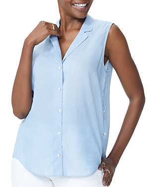Nydj Sleeveless Button-Front Shirt (Clearance)