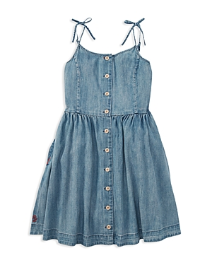 Polo Ralph Lauren Girls Denim Dress  Big Kid