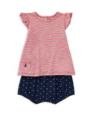 Ralph Lauren Girls Striped Jersey Tee  StarPrint Seersucker Bloomers Set  Baby