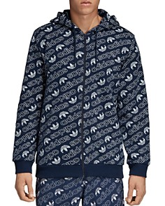 adidas Originals - Monogram Zip Hooded Sweatshirt