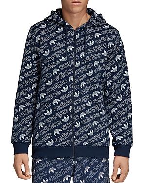 adidas Originals Monogram Zip Hooded Sweatshirt
