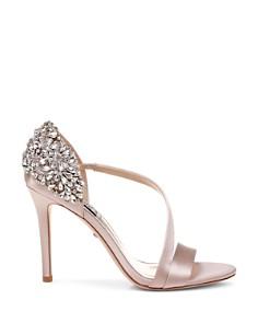 Badgley Mischka - Women's Pauline Embellished Satin Crossover High-Heel Sandals