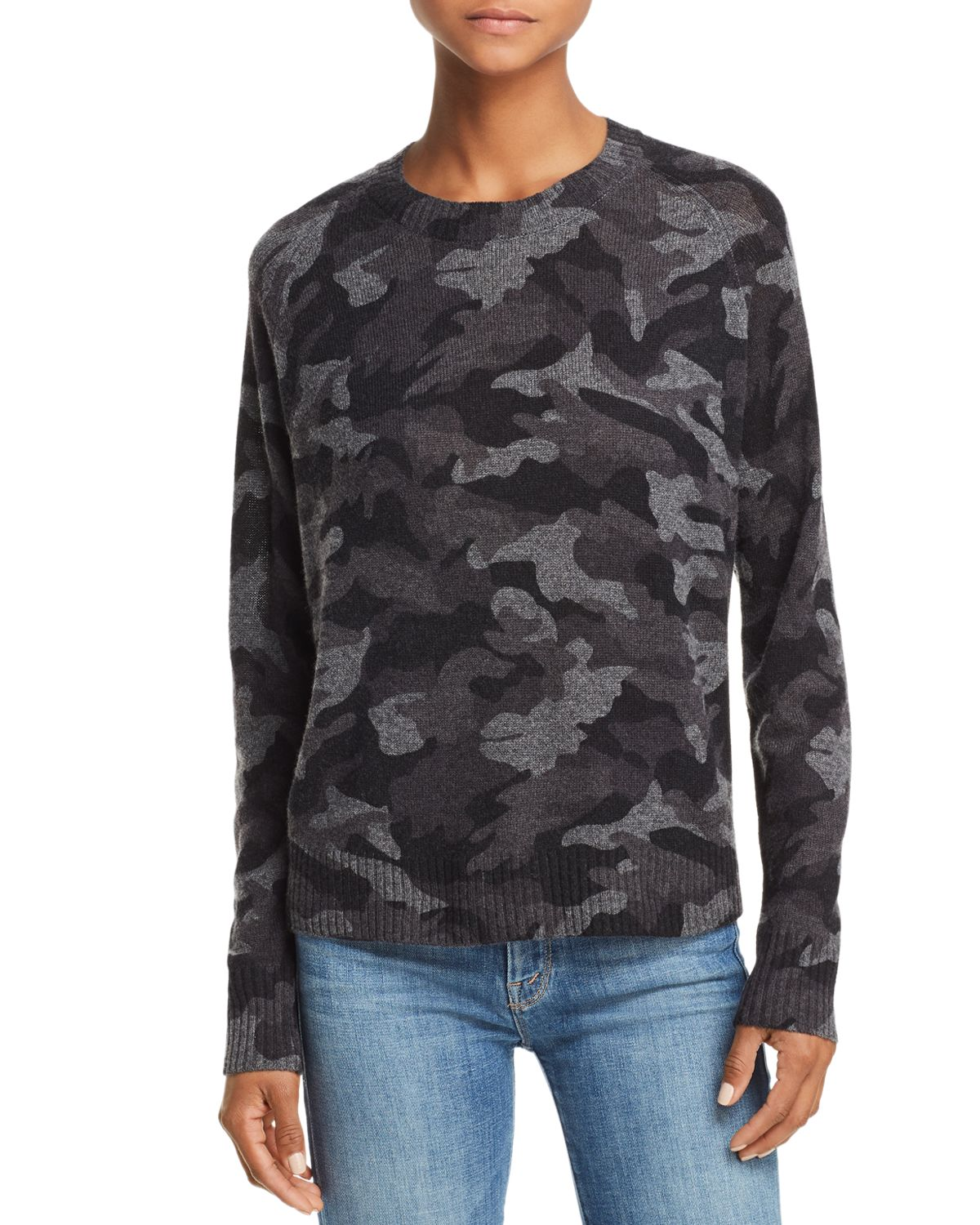 Camo Crewneck Cashmere Sweater   100 Percents Exclusive by Aqua