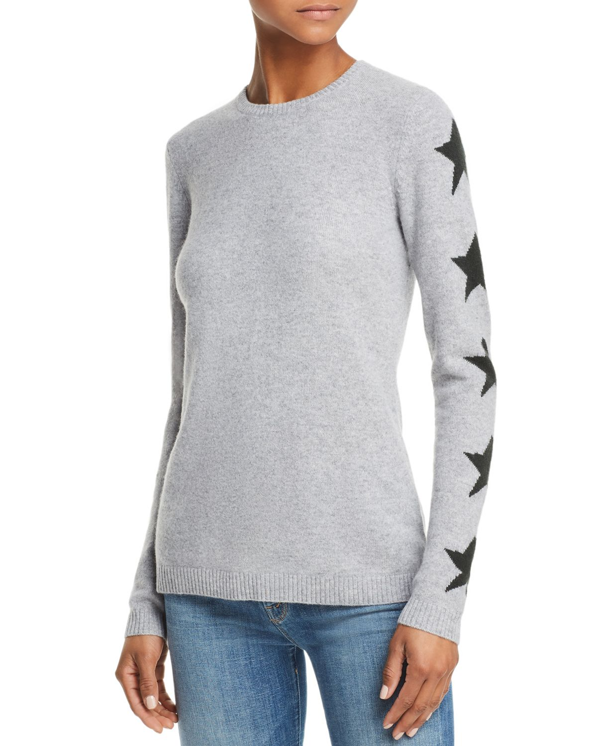 Star Sleeve Cashmere Sweater   100 Percents Exclusive  by Aqua
