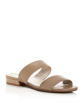 Kenneth Cole - Women's Viola Leather Low Heel Slide Sandals