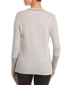 C by Bloomingdale's - Rib-Knit Detail Cashmere Sweater - 100% Exclusive