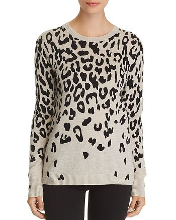 C by Bloomingdale's - Cascade Leopard Cashmere Sweater - 100% Exclusive