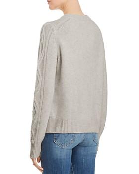 AQUA - Aran-Knit Cashmere Sweater - 100% Exclusive