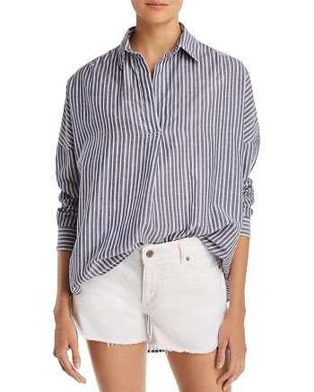FRENCH CONNECTION - Tatus Striped Cotton Top
