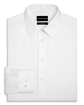 Armani - Twill Basic Regular Fit Dress Shirt