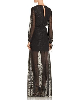 AQUA - Embroidered Chiffon Maxi Dress - 100% Exclusive