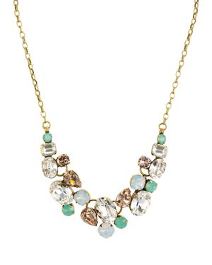 SORRELLI FACETED GLASS STATEMENT NECKLACE, 16