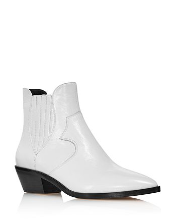 Rebecca Minkoff - Women's Kaidienne Pointed Toe Leather Low-Heel Booties - 100% Exclusive