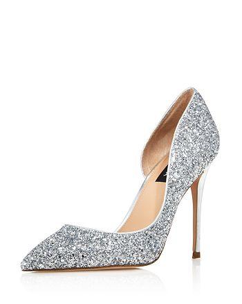 AQUA - Women's Dion Glitter Embellished High-Heel d'Orsay Pumps - 100% Exclusive