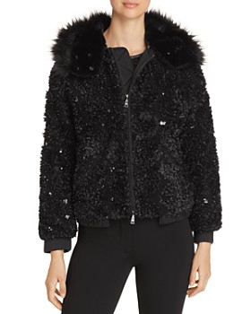 Emporio Armani - Sequined Hooded Bomber Jacket