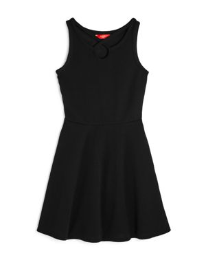 Aqua Girls' Textured Strappy Fit-and-Flare Dress, Big Kid - 100% Exclusive