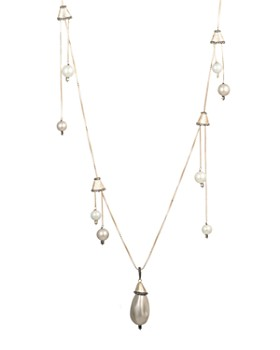 Alexis Bittar - Chandelier Station Simulated Pearl Necklace, 40""