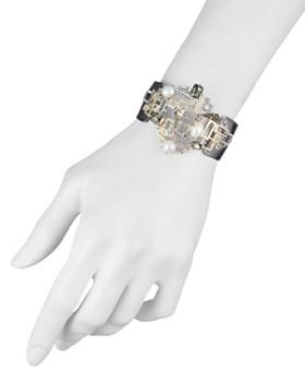 Alexis Bittar - Geometric Simulated Pearl Cuff Bracelet