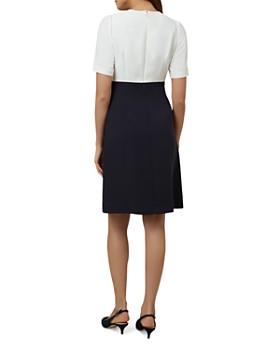 HOBBS LONDON - Ardelia Color-Block Lace-Trim Dress
