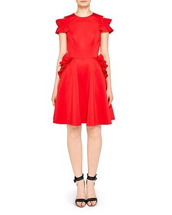 5f451c630aba20 Ted Baker - Deneese Ruffled Cold-Shoulder Dress