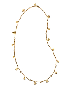 Tory Burch Bellflower Simulated Pearl Necklace, 37