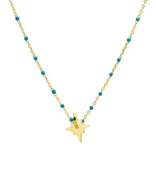 Argento Vivo - North Star Enamel-Detail Necklace, 14""