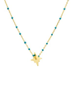 ARGENTO VIVO North Star Enamel-Detail Necklace, 14 in Gold
