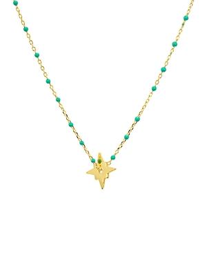 Argento Vivo North Star Enamel-Detail Necklace, 14
